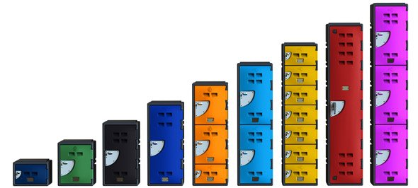 ALl A series lockers and Colour