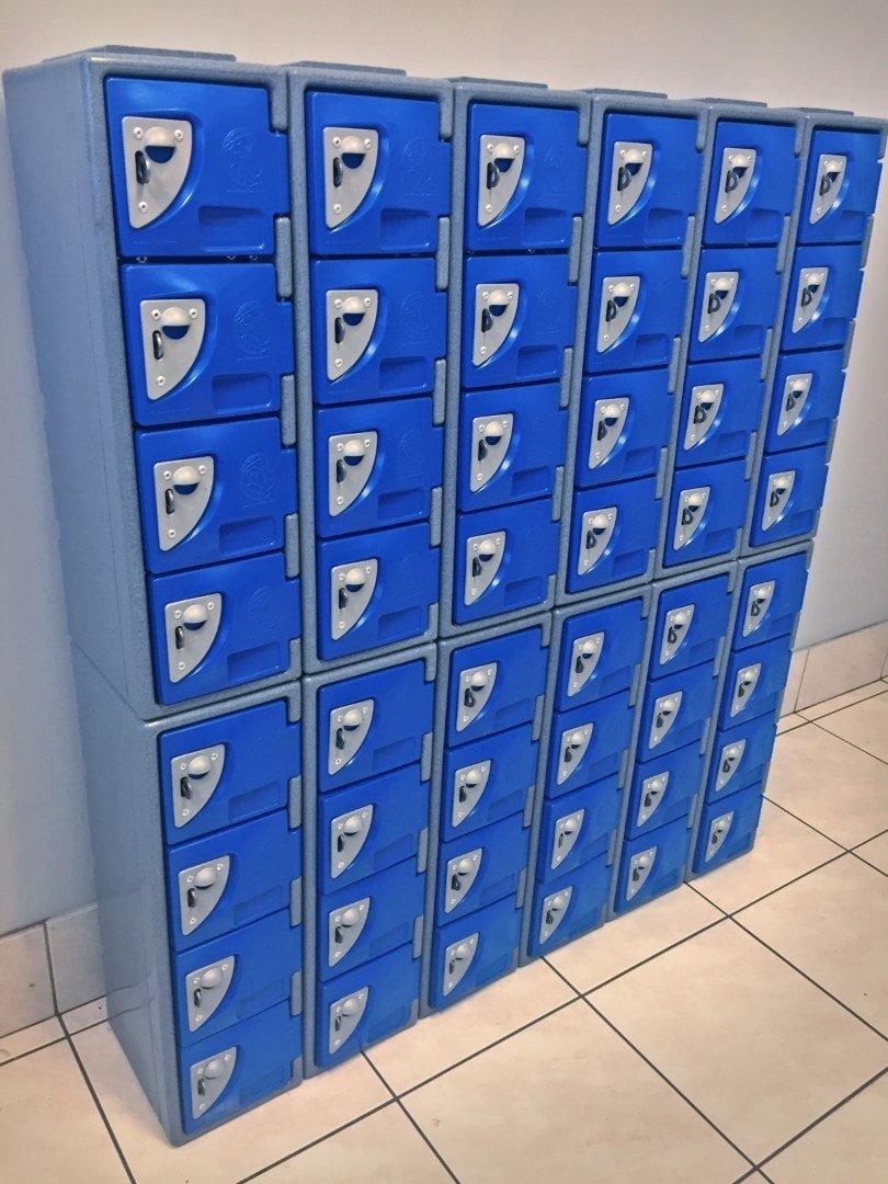 Large bank Workplace phone lockers