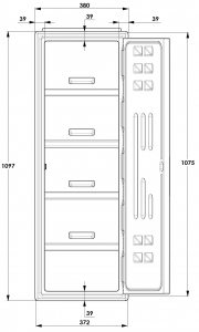 A Series Lockers Dimensions detail