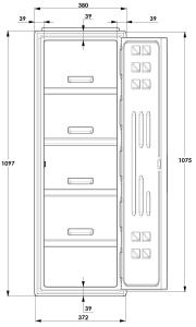 A Series Lockers Dimensions detail