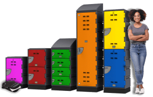 C Series Lockers and woman 673px