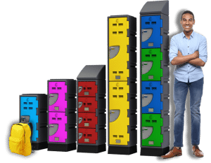 E Series Lockers and man - 673px